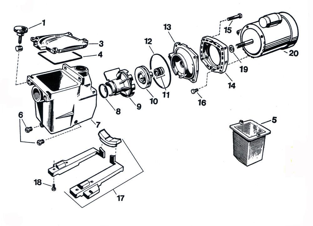 Hayward Super Ii Pump Parts Diagram
