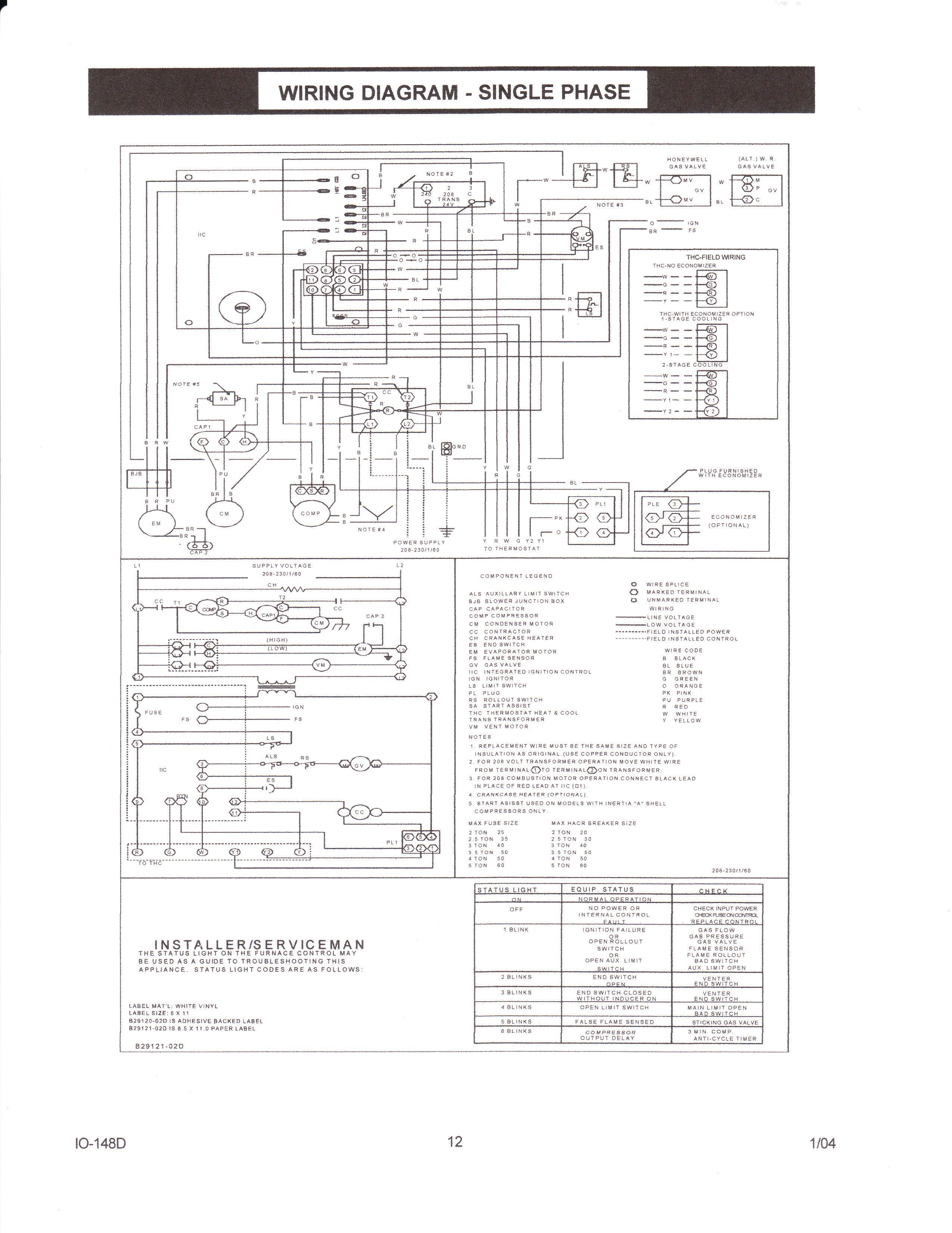 Heil 5000 Blower Motor Board Wiring Diagram