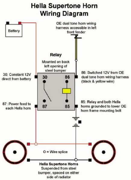 a Horn Wiring | Wiring Diagram A Supertone Horn Wiring Harness on