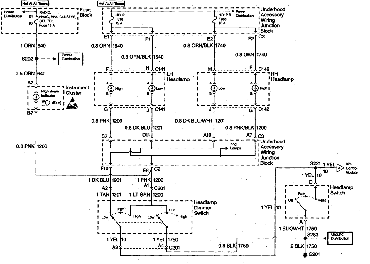 High Beam Wiring Diagram For A 2000 Buick Regal
