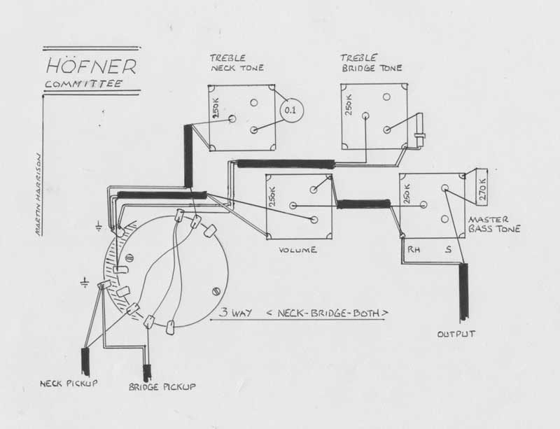 hofner bass wiring diagram