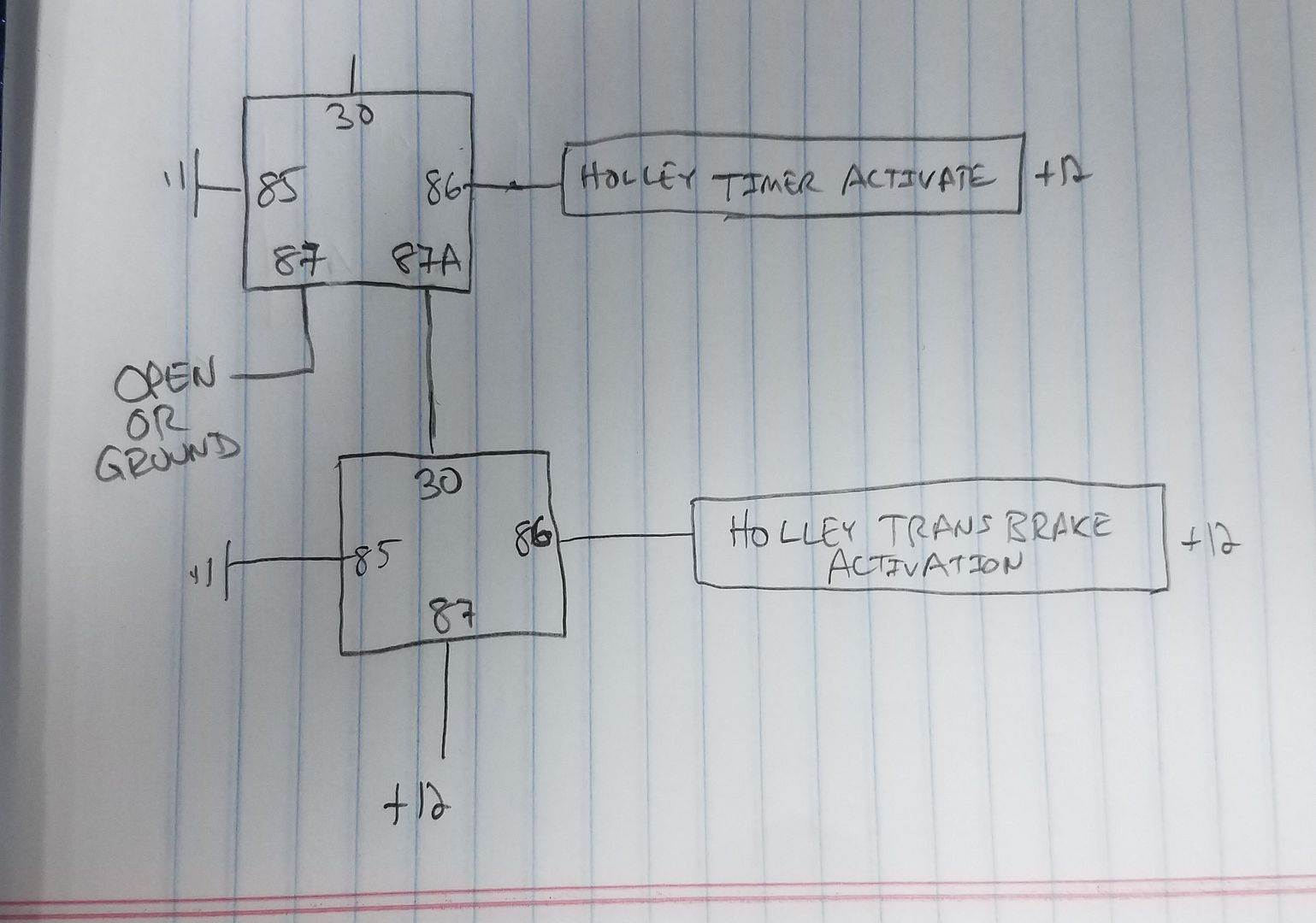 Holley Single Relay Transbrake Bump Wiring Diagram