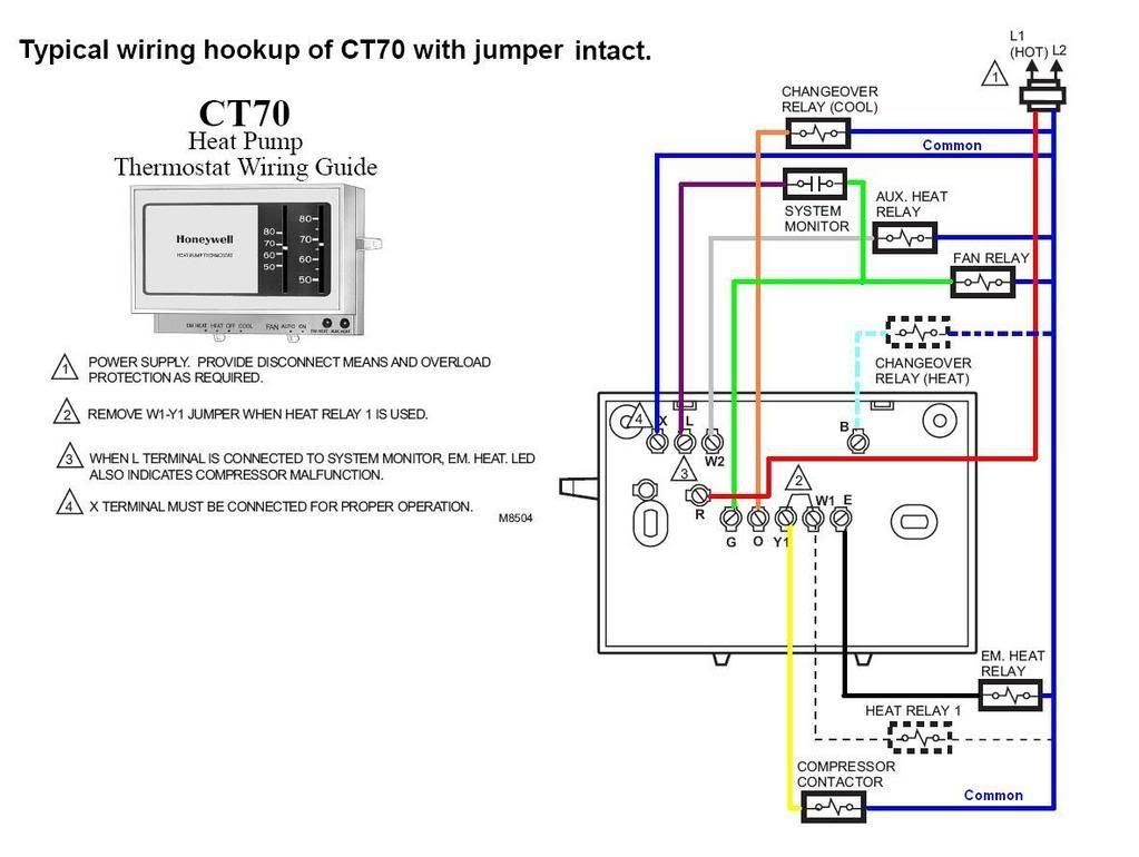 Honeywell Analog Heatpump Thermostat Wiring Diagram