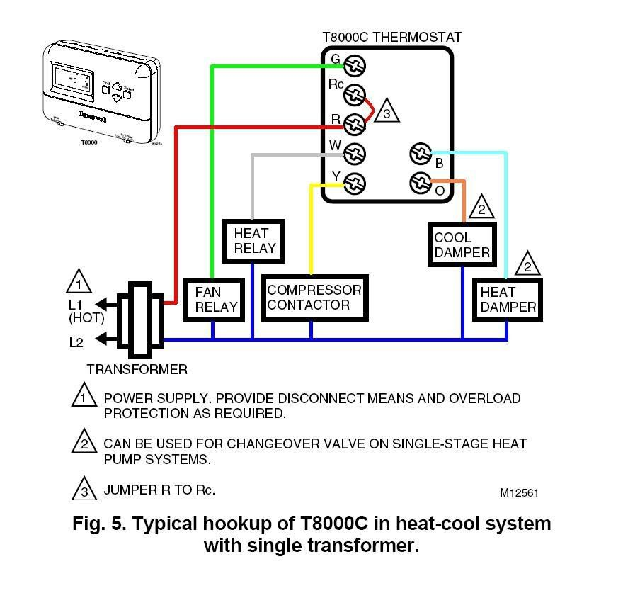 Honeywell Ct87n4450 Thermostat Wiring Diagram