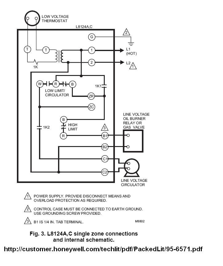 Honeywell L8124a Wiring Diagram on