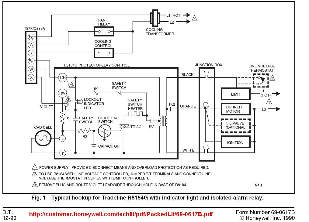 Honeywell R8184g Wiring Diagram