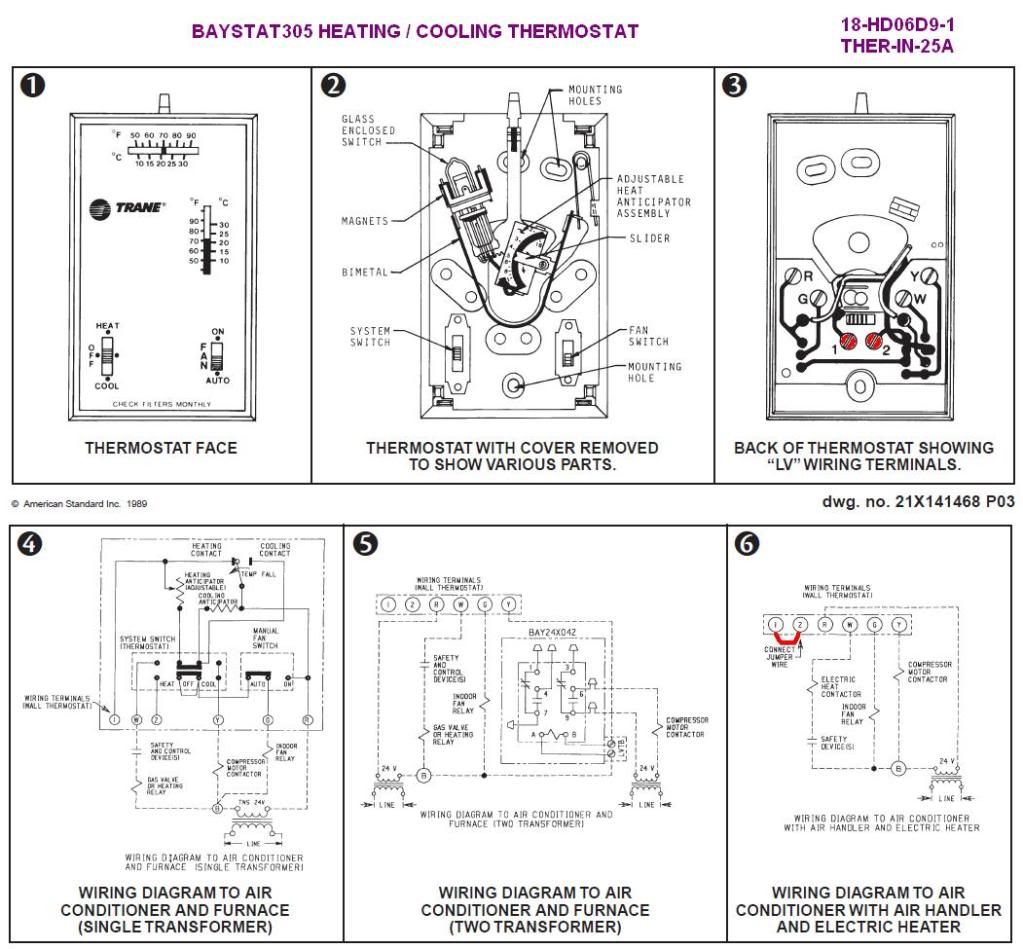 7351 Honeywell Programmable Thermostat Wiring Diagram