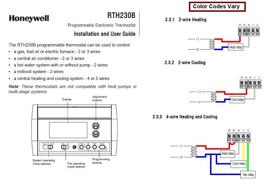 Honeywell Rth2300b Wiring Diagram