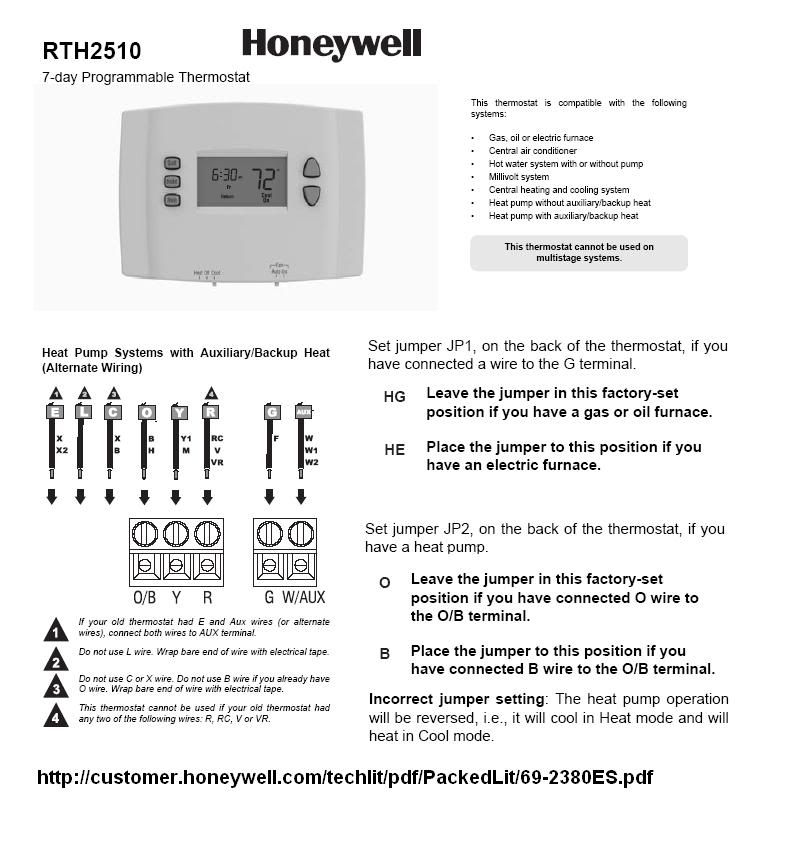 Honeywell Rth2510B Wiring Diagram from schematron.org