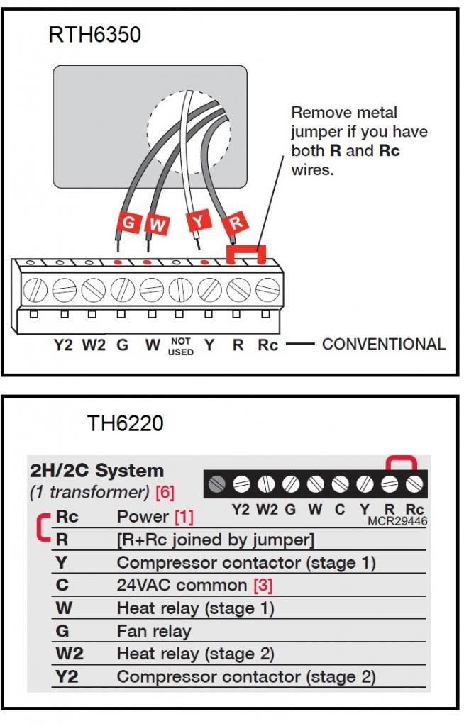 Honeywell Rth6350d Wiring Diagram