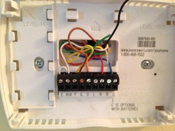 Honeywell Thermostat Wiring Diagram Rth221b
