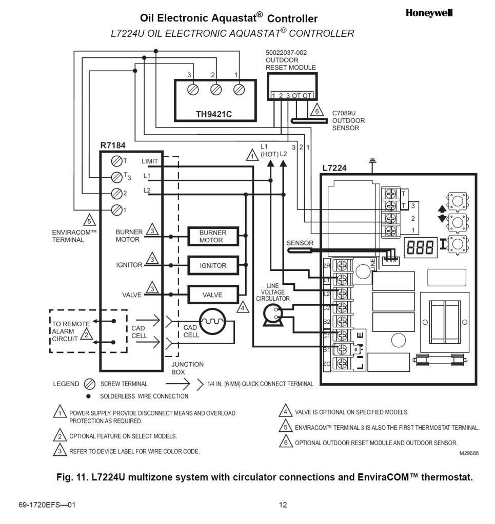 Honeywell Thermostat Wiring Diagram Rth221b on