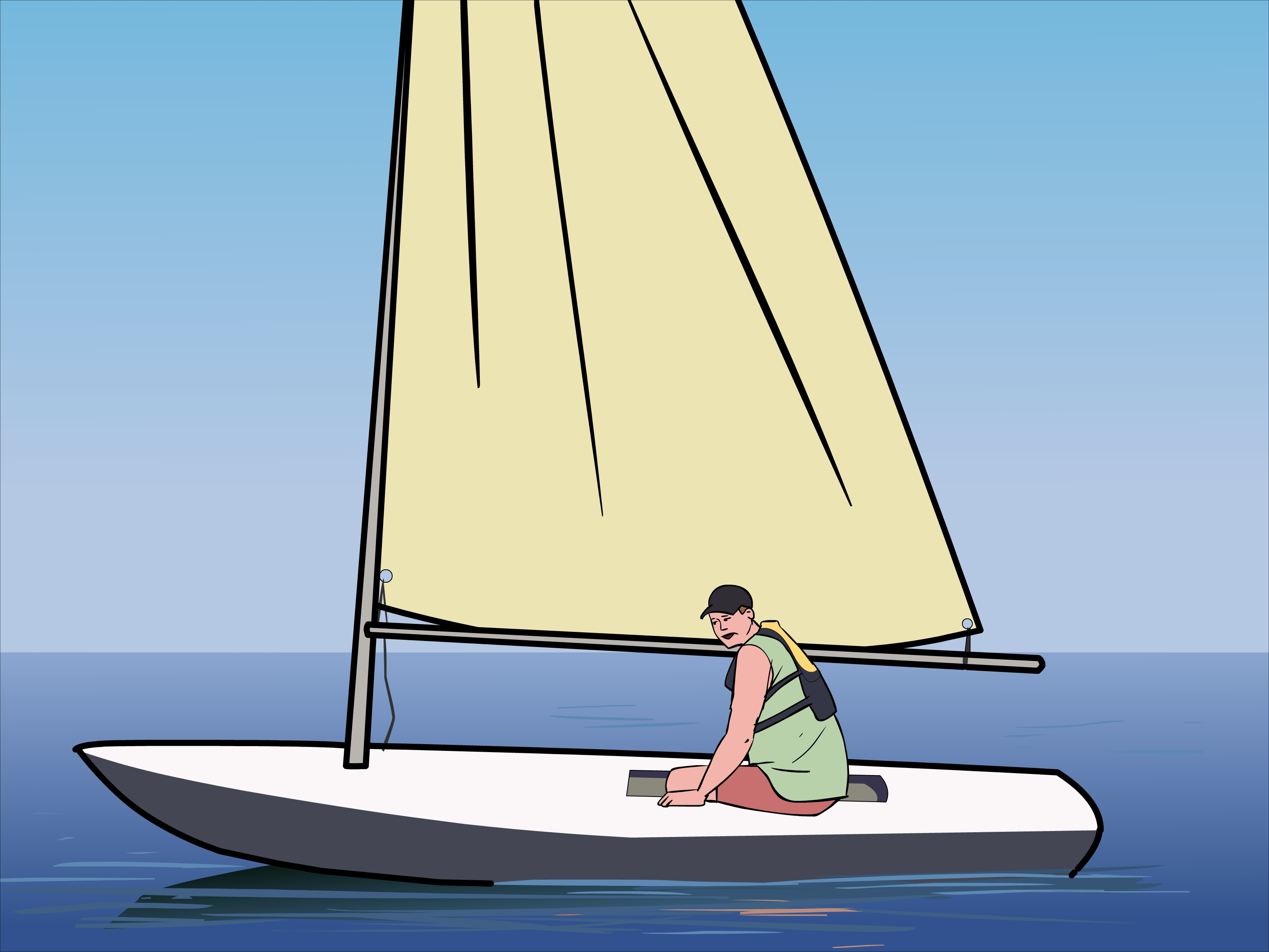 How To Rig A Sunfish Sailboat Diagram