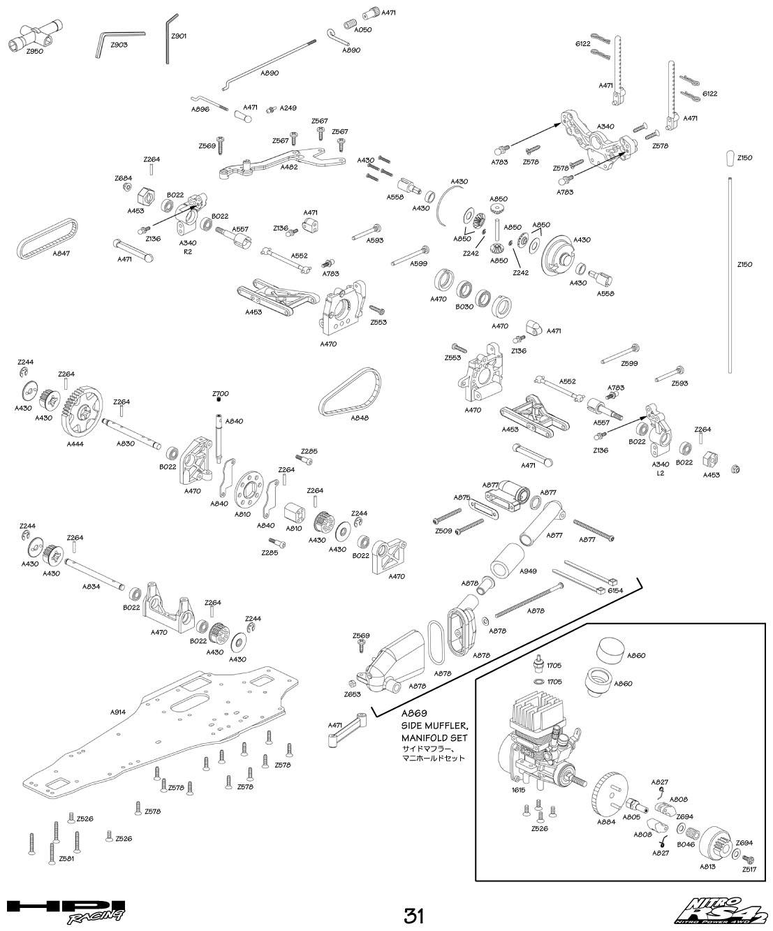 Hpi Rs4 Parts Diagram