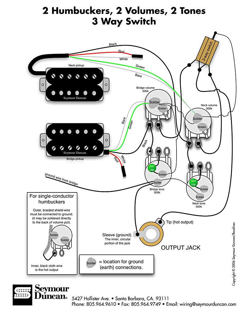 Hsh Wiring Diagram 5 Way Switch 2 Conductor Humbucker