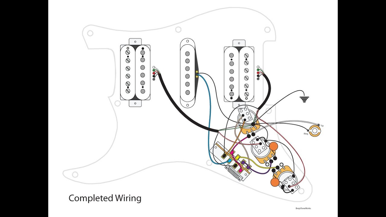 hsh-wiring-diagram-5-way-switch-9  Humbucker Wiring Diagram Way Switch on