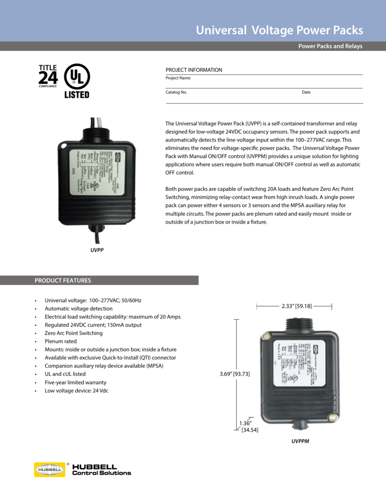 Hubbell Occupancy Sensor Wiring Diagram on