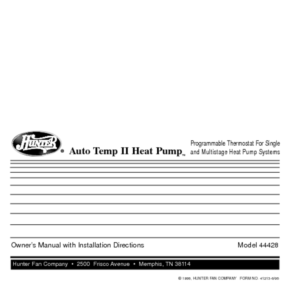 Hunter 4660 Wiring Diagram Thermostat