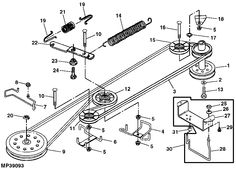 Huskee Riding Mower Drive Belt Diagram
