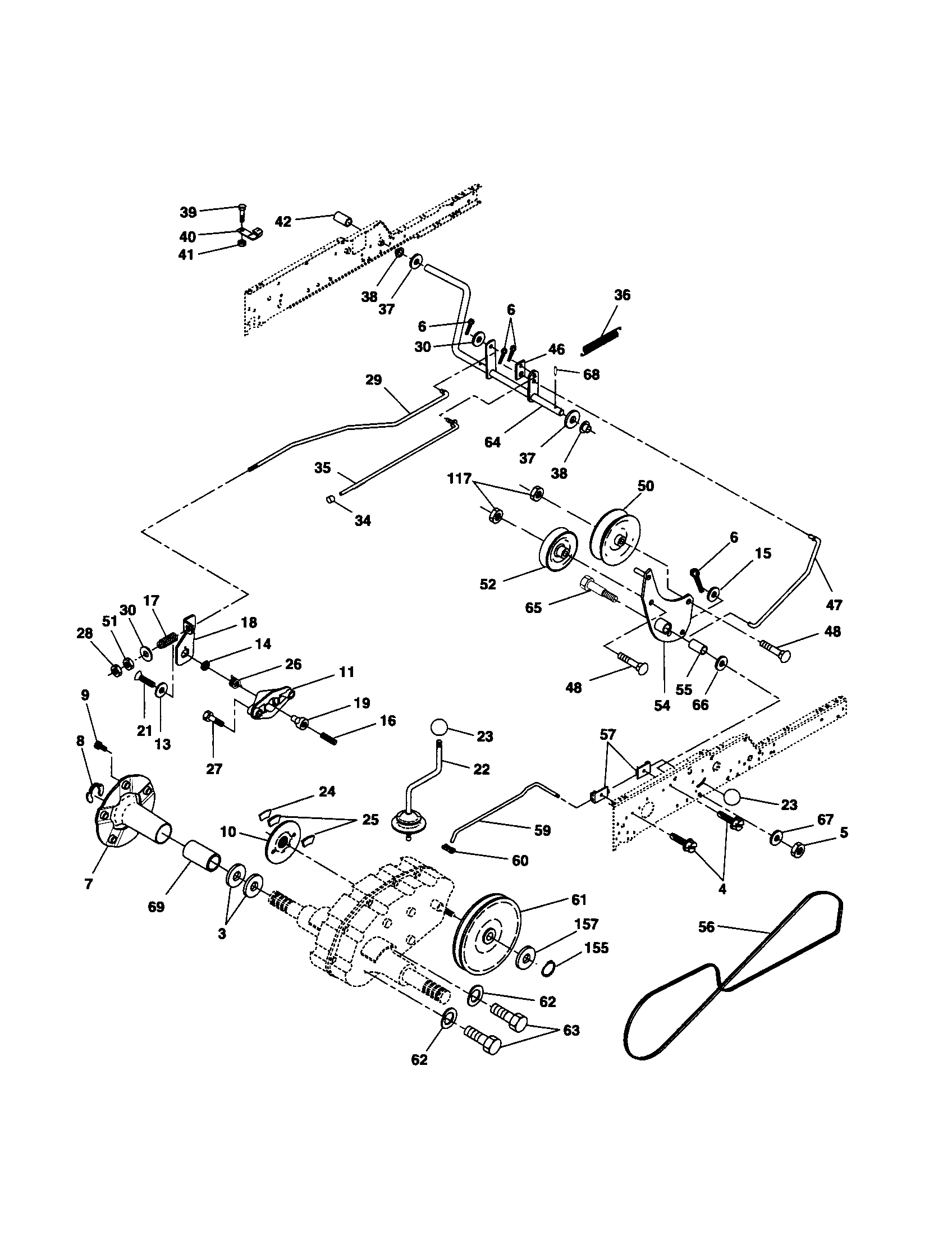 Husqvarna Gt2254 Deck Belt Diagram