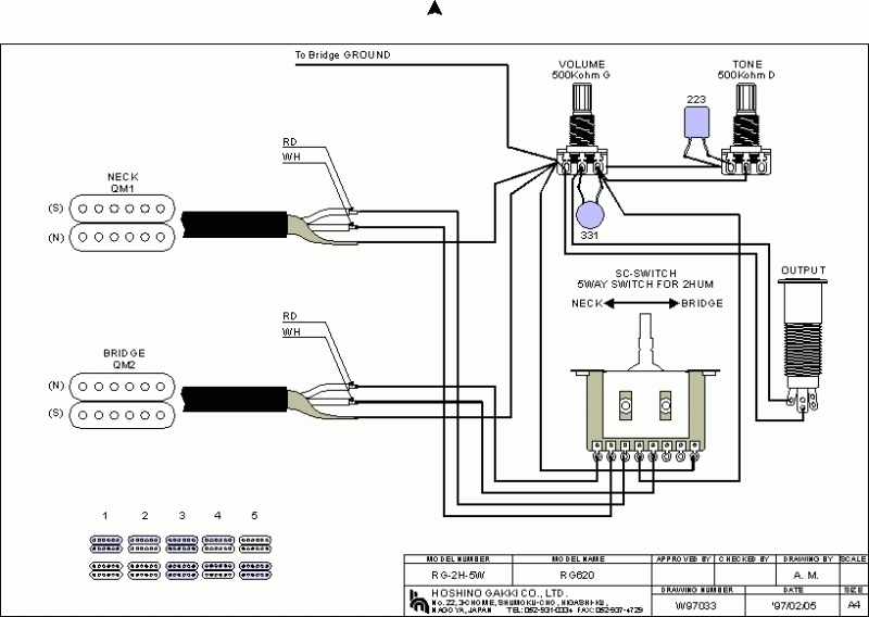 Road Star Wiring Diagram Electric Guitar | Wiring Schematic ... Ibanez Rg Wiring Diagram on