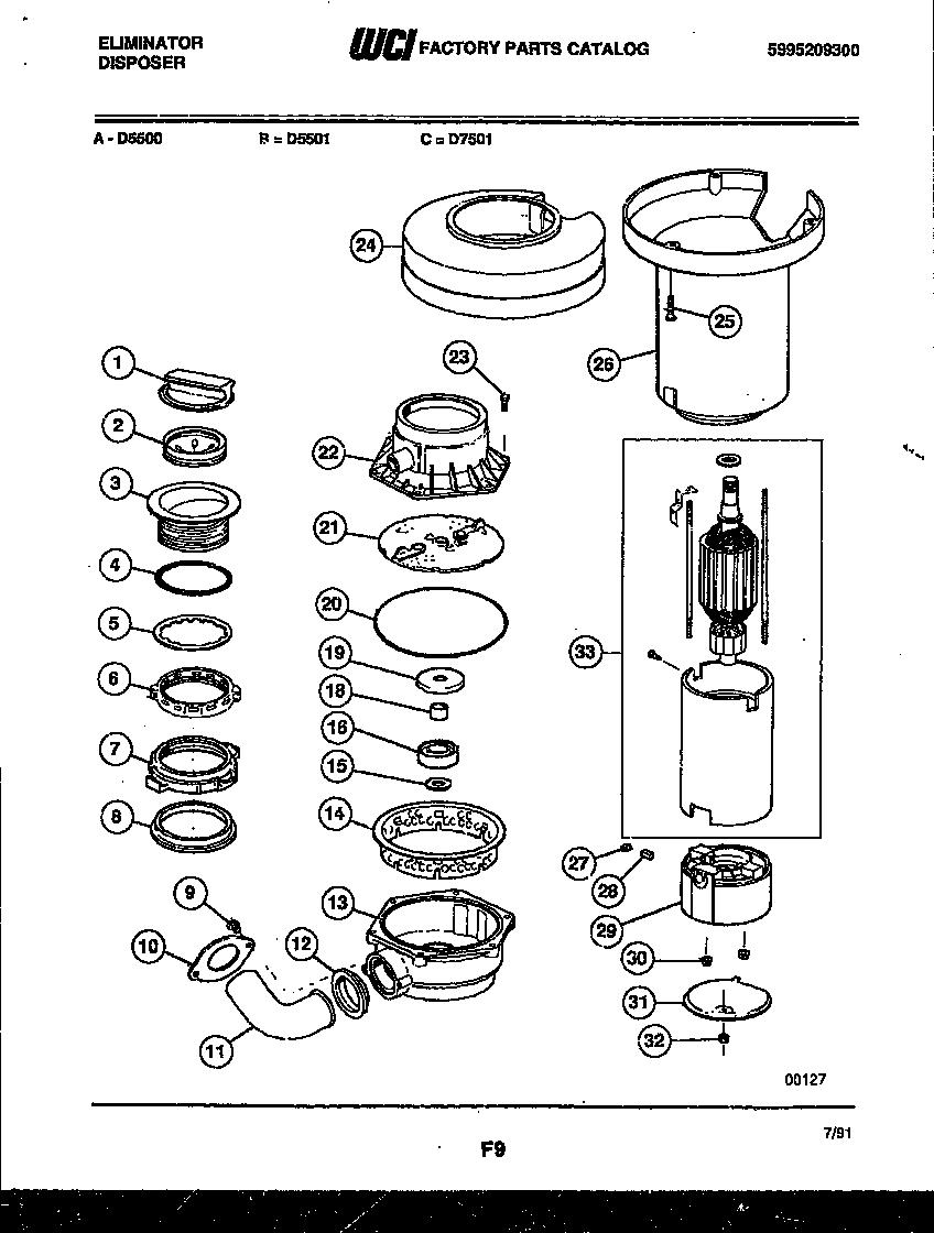 Insinkerator Badger 5 Parts Diagram