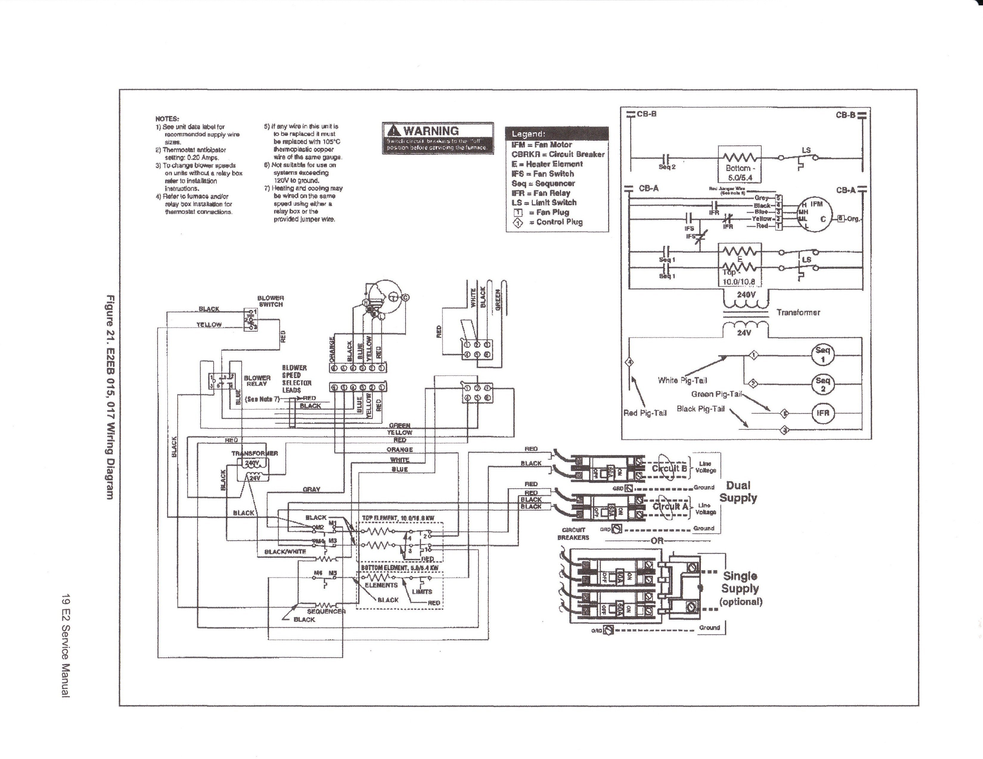 Mobile Home Intertherm Electric Furnace Wiring Diagram from schematron.org