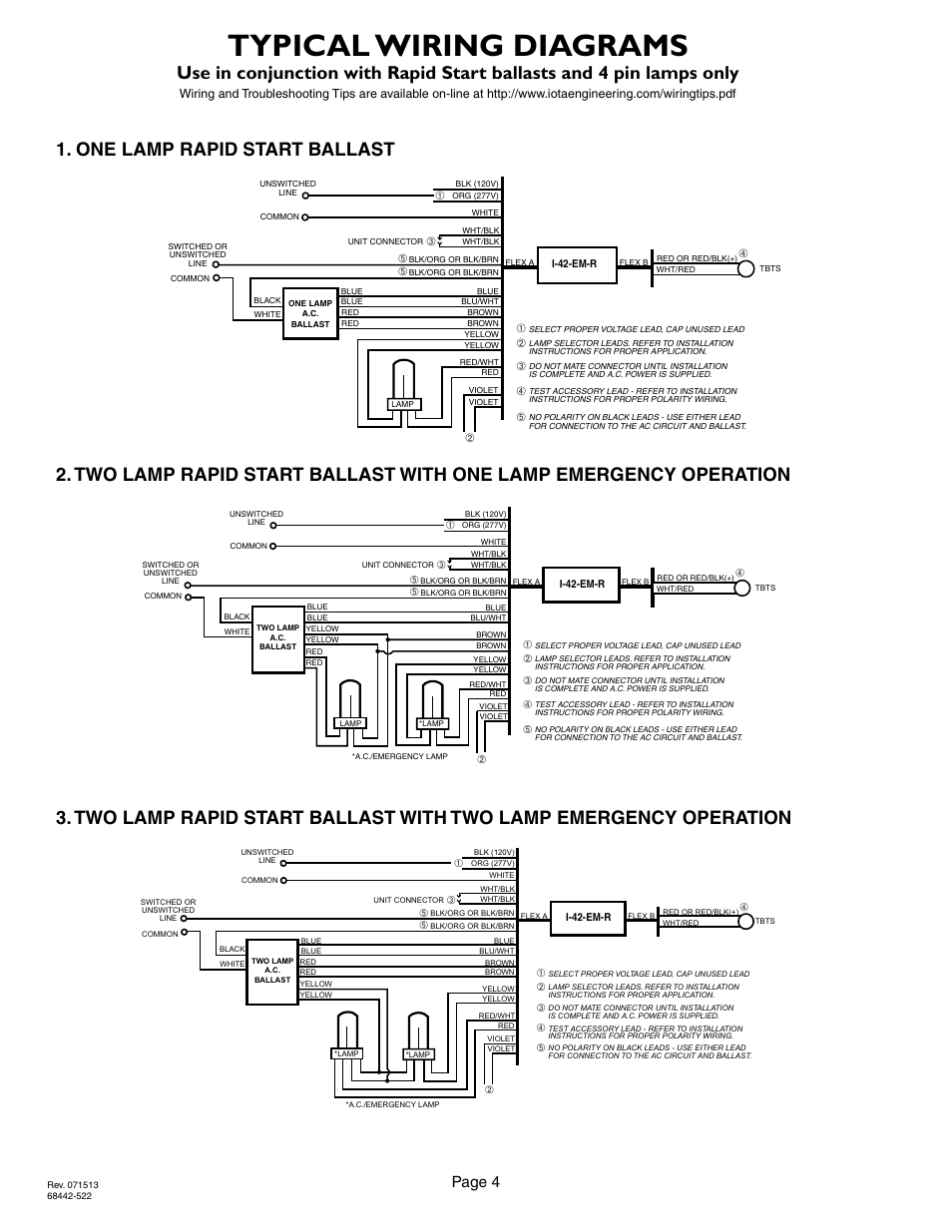 iota i32 emergency ballast wiring diagram