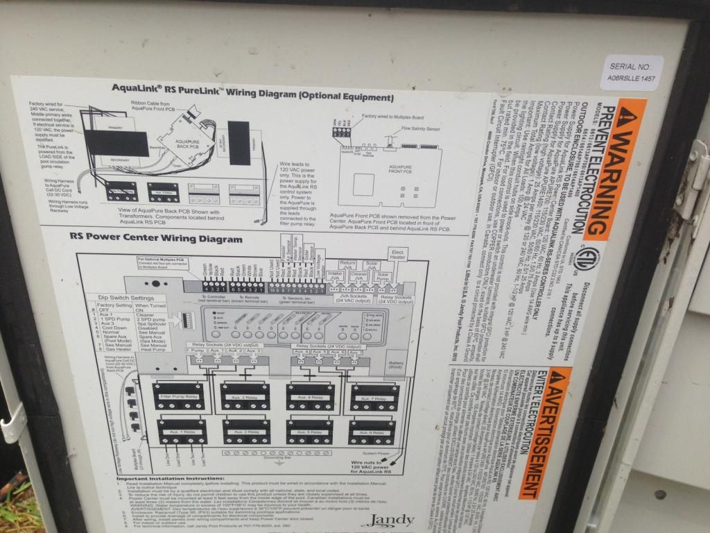 Jandy Aqualink Wiring Diagram