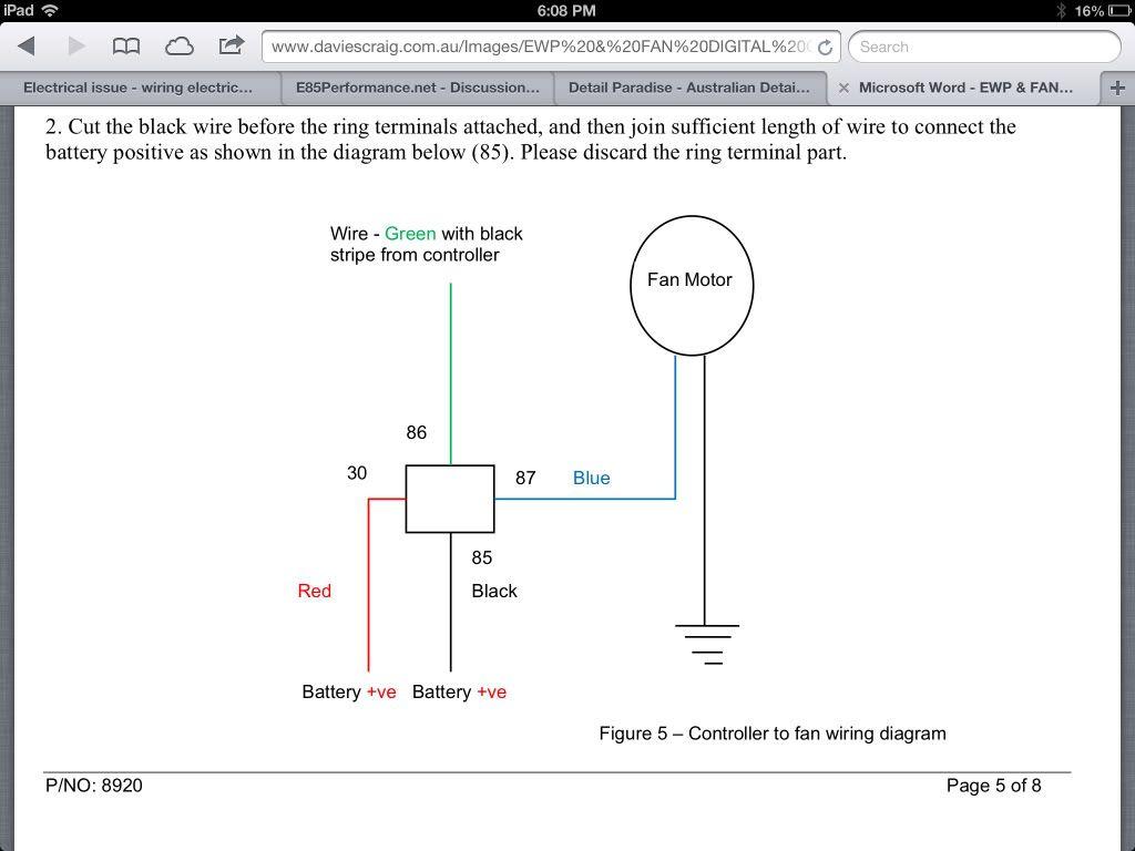 Jegs Fan Relay Wiring Diagram