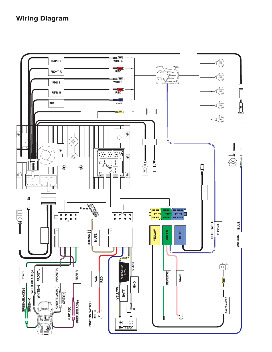 Diagram  16pin Car Stereo Radio Wiring Harness Connector Plug Iso Wiring Diagram Full Version