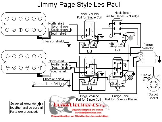 50S Les Paul Wiring Diagram from schematron.org