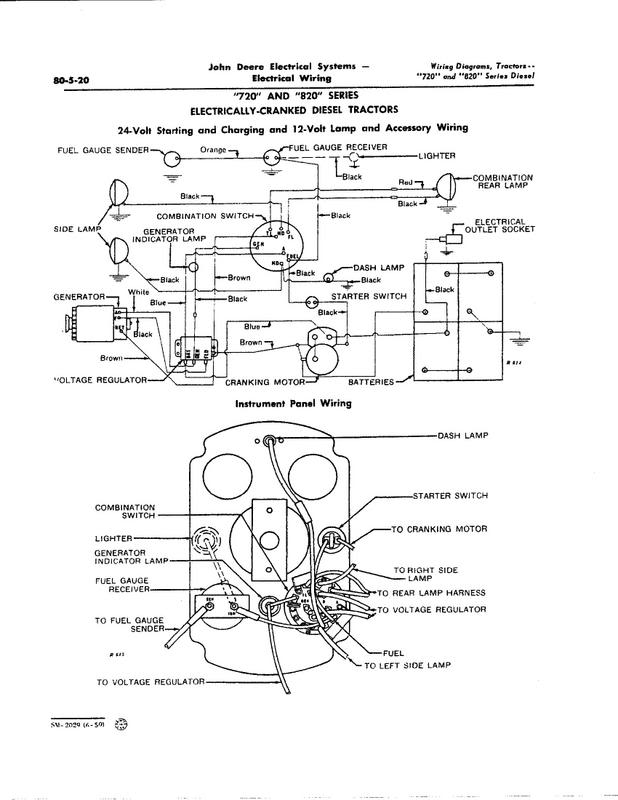 John Deere 1010 Ignition Switch Wiring Diagram