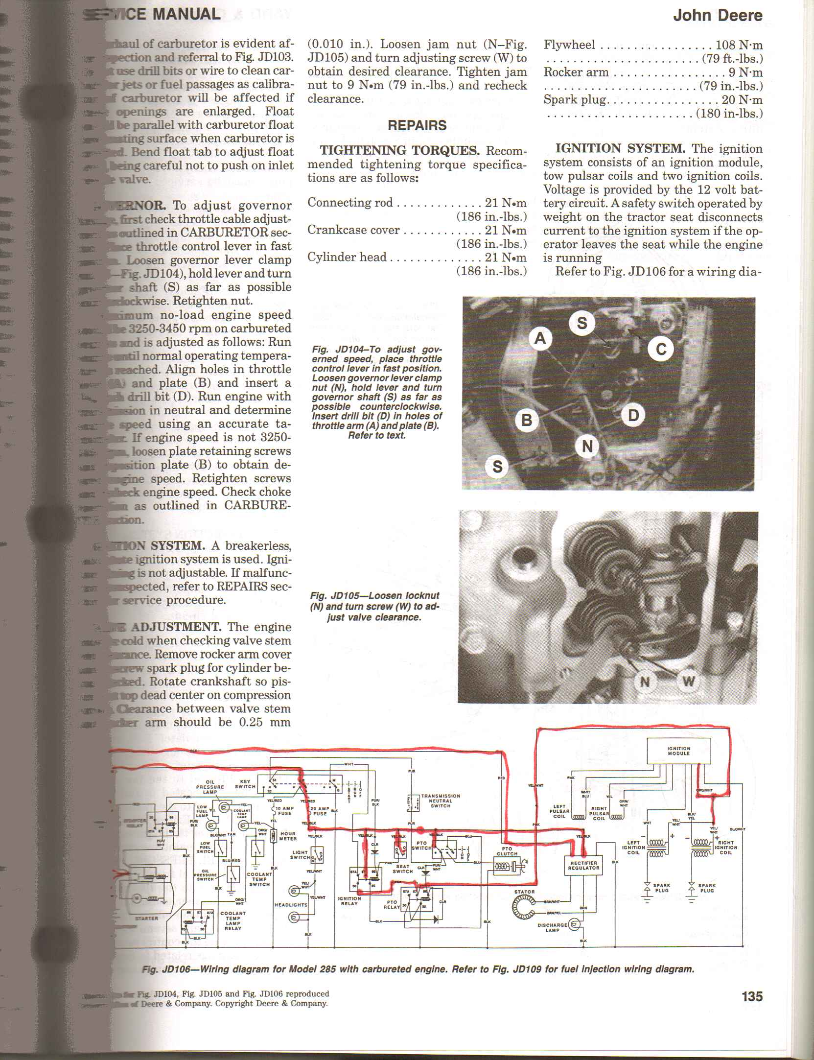 Lawntractorwiringdiagram Wiring Diagram For 300 Series Tractors