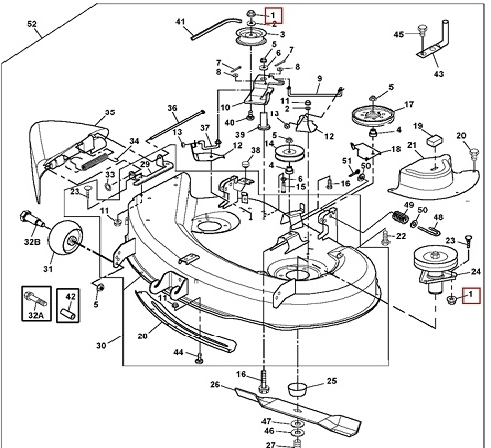 John Deere Z225 Parts Diagram