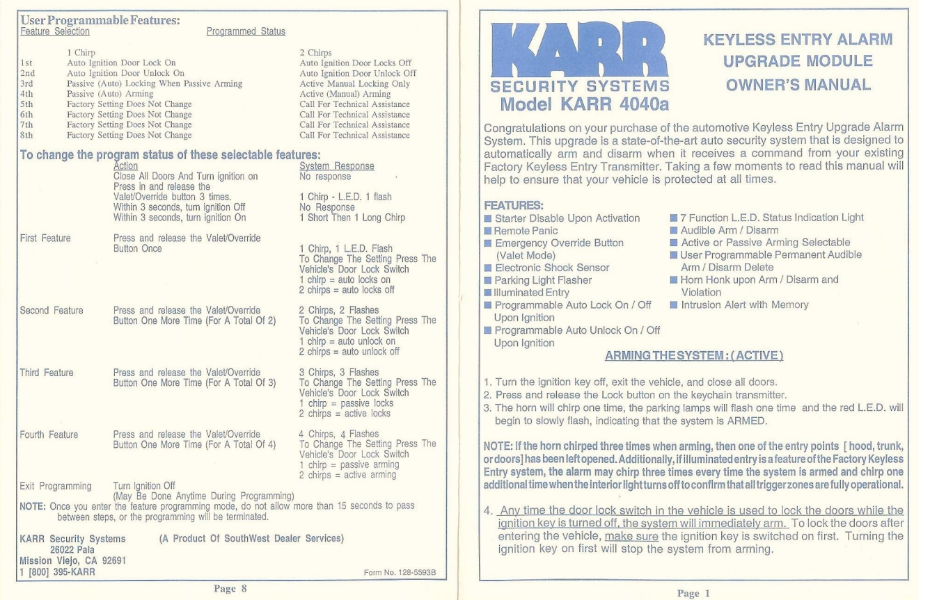 Addition Karr Alarm Wiring Diagram Besides Karr Security Alarm Wiring
