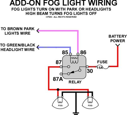 on kc relay wiring diagram lights