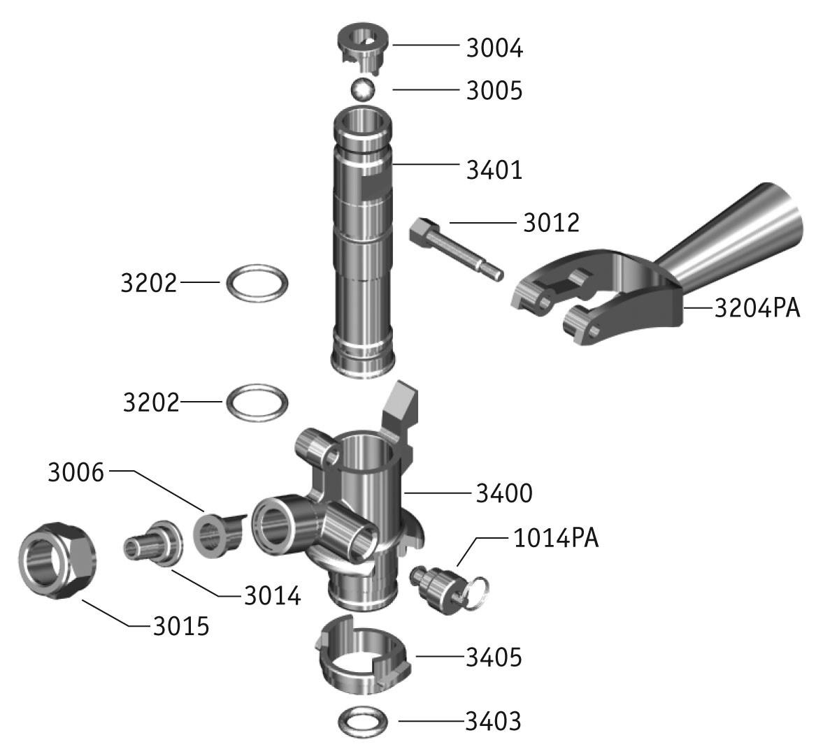 Keg Coupler Diagram