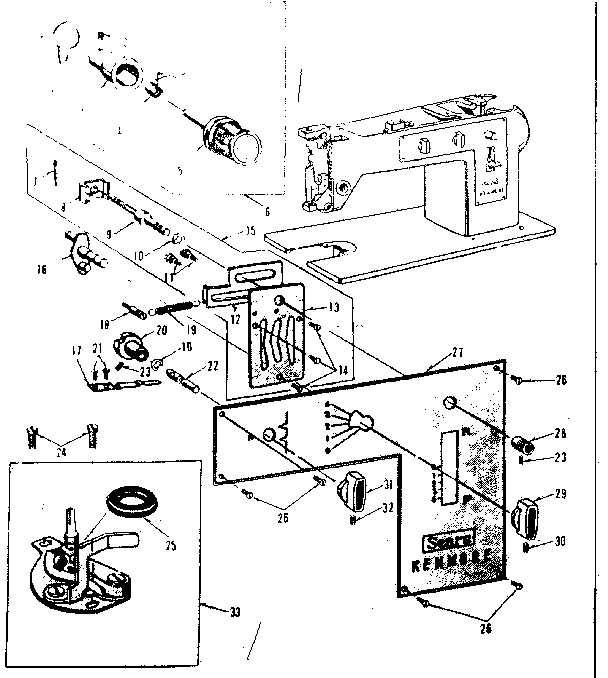 Kenmore Sewing Machine Tension Assembly Diagram