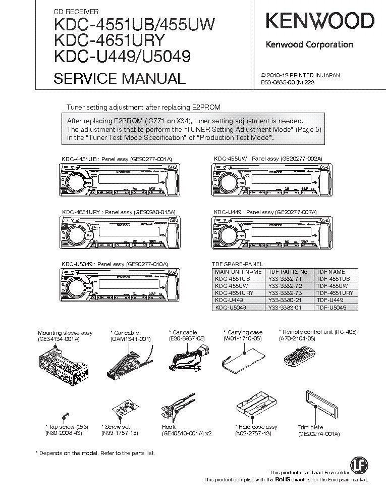 Kenwood Ddx271 Wiring Diagram