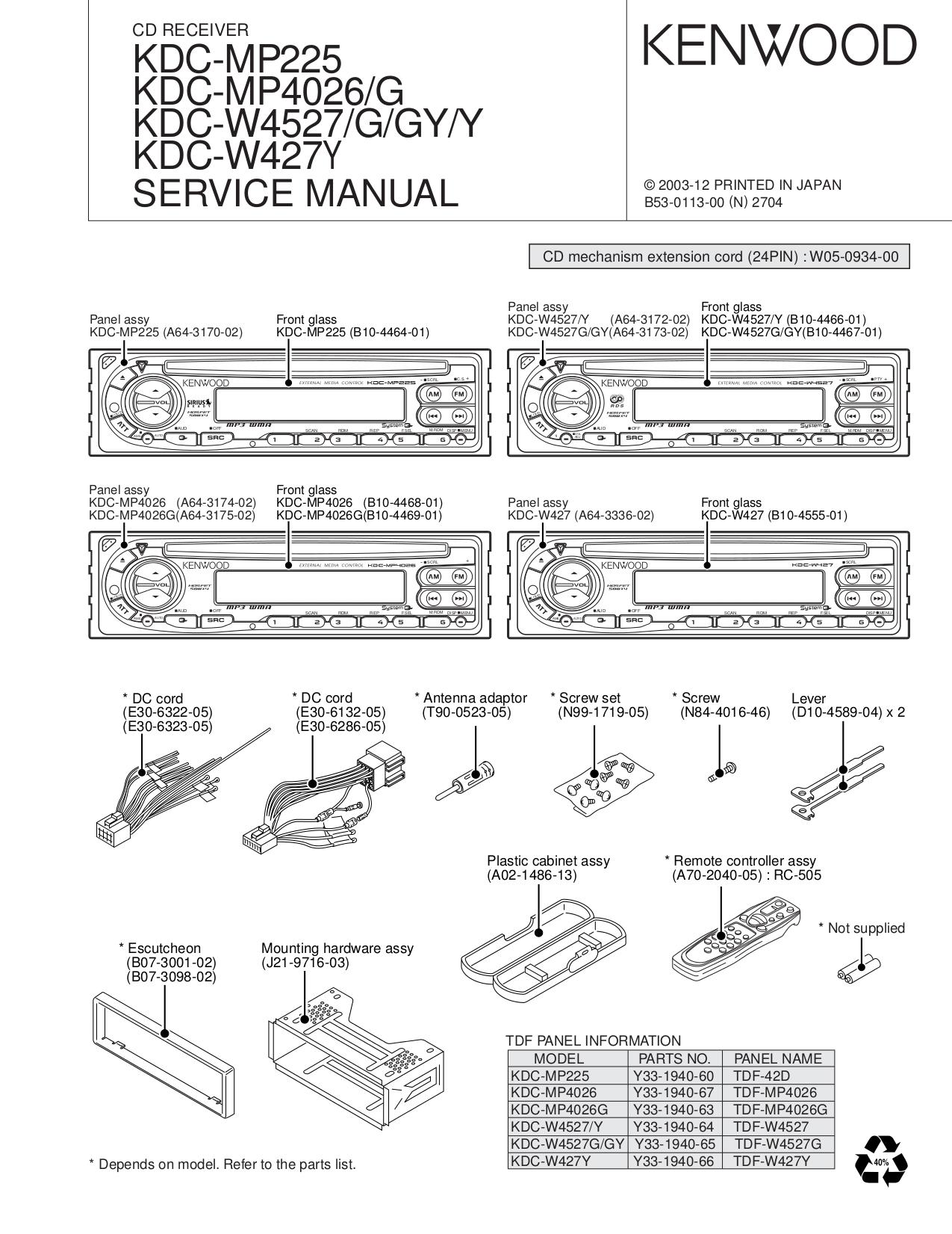 Kenwood Dpx500bt Wiring Diagram