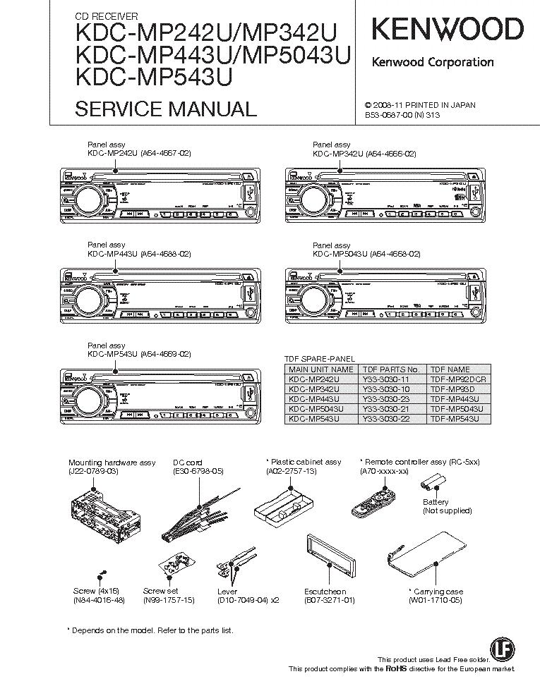Kenwood Kdc Mp242 Wiring Diagram