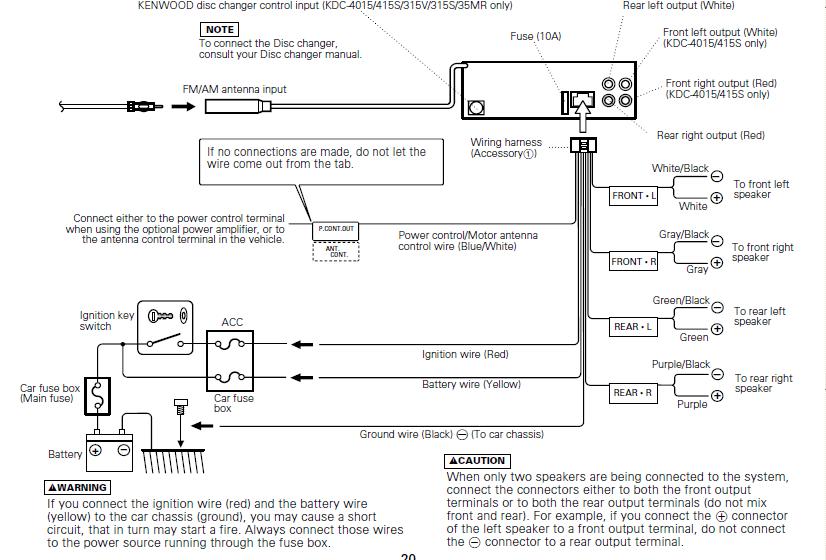 Kenwood Ddx516 Wiring Diagram Stereo. . Wiring Diagram on
