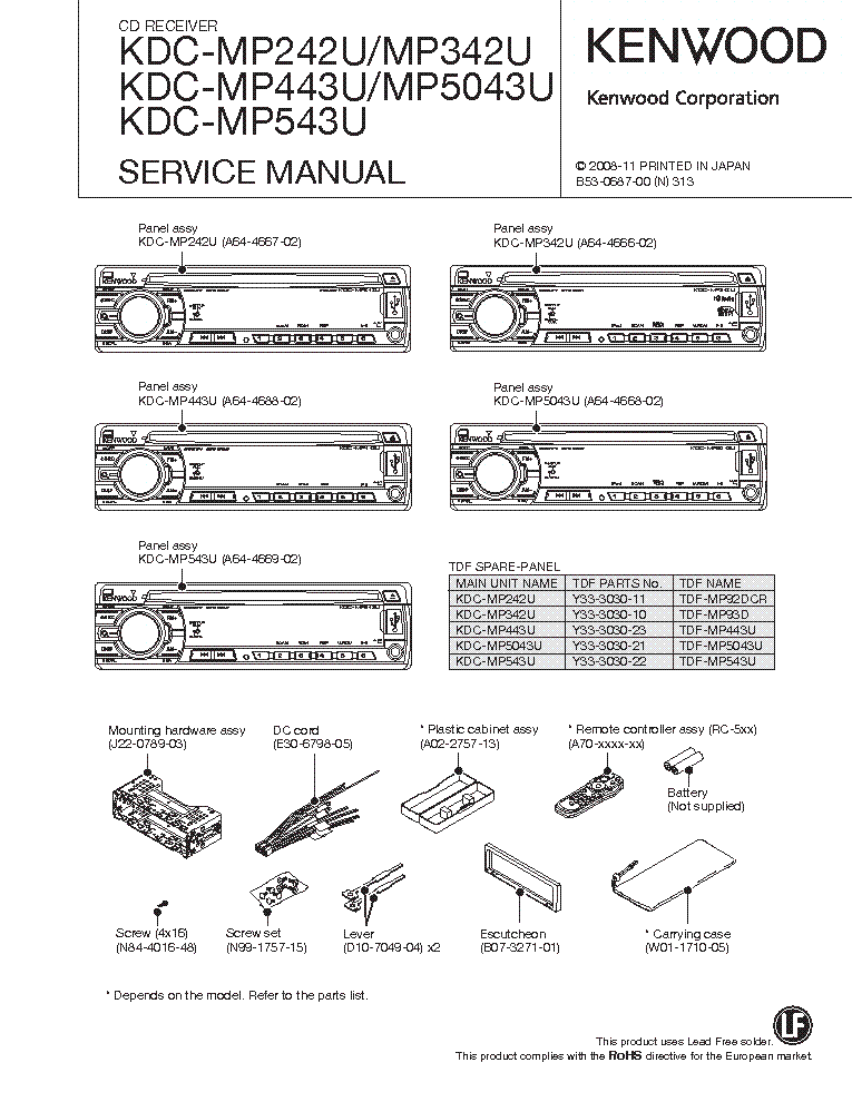 Kenwood Kdc X595 Wiring Diagram