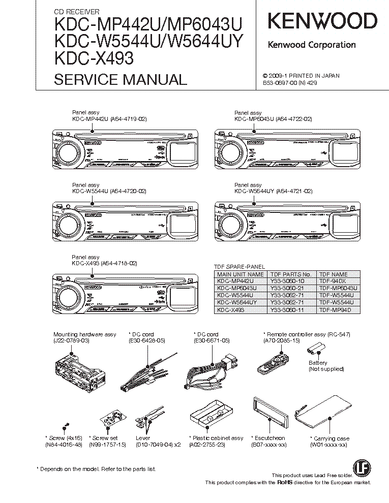 Kenwood Kdc252u Wiring Diagram