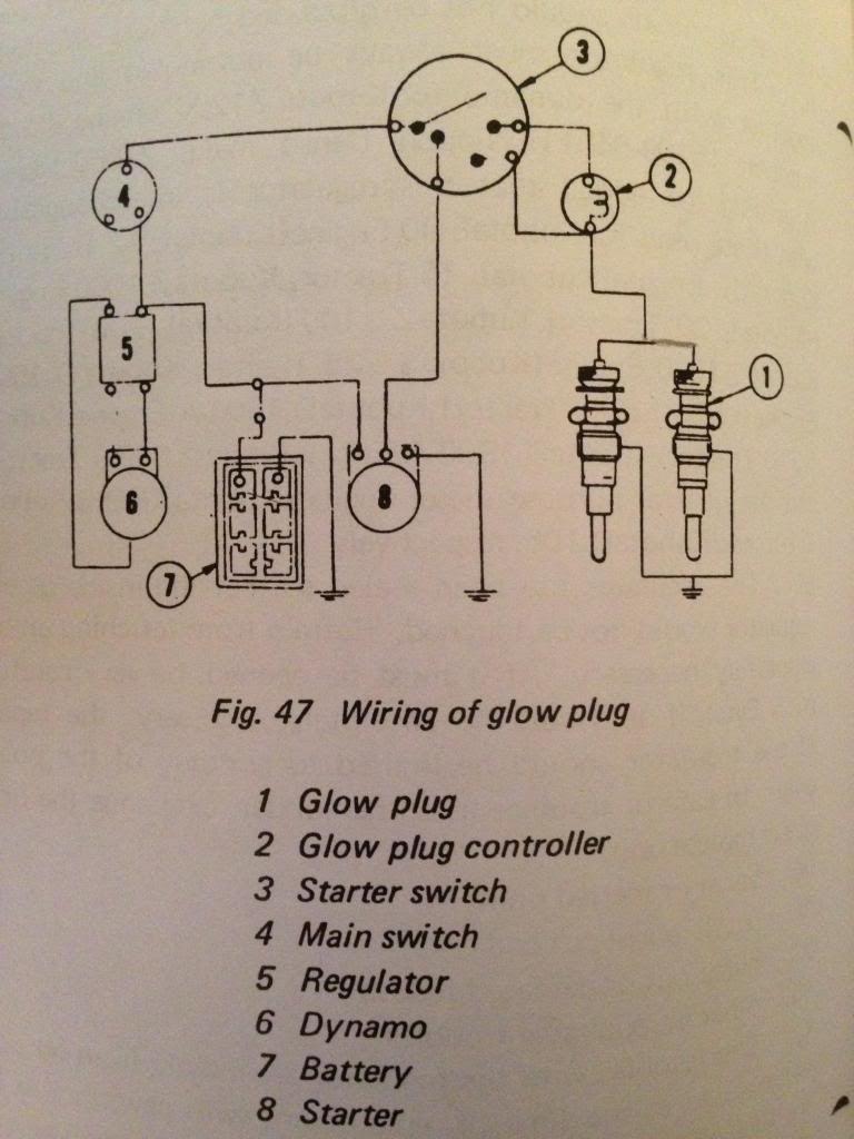Kubota L4200 Glow Plug Relay Wiring Diagram