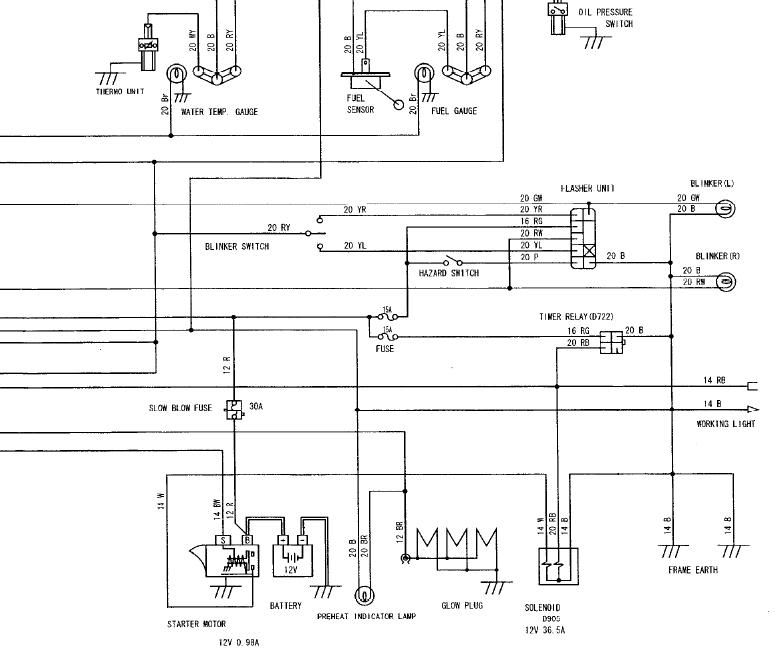Diagram Kubota Tractor L 4330 Diesel Ignition Switch Wiring Diagram