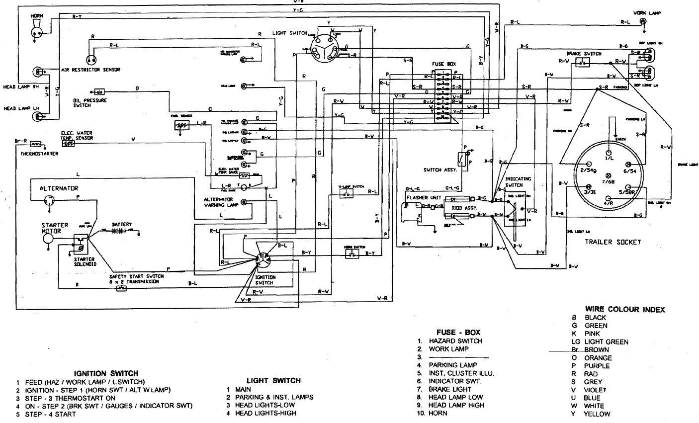 Kubota Tractor L4330 Diesel Ignition Switch Wiring Diagram