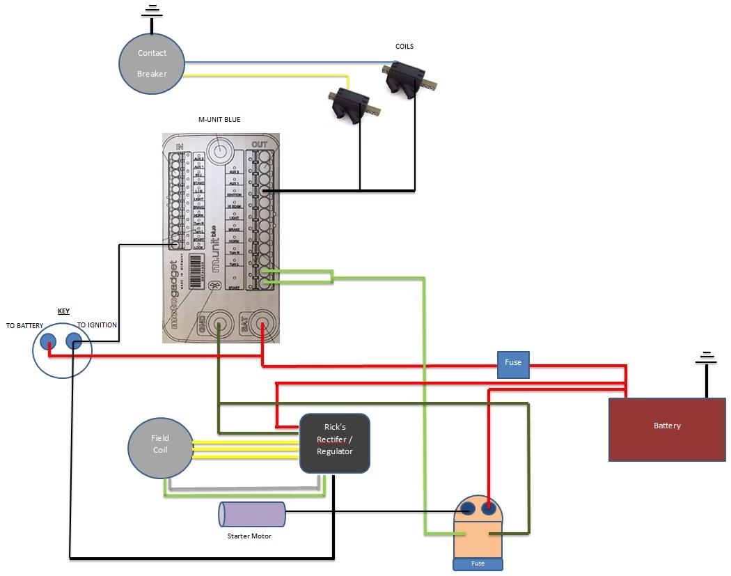 Kz400d M Unit Blue Wiring Diagram
