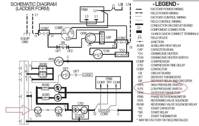 Ladder Wiring Diagram For Daikin Heat Pump on